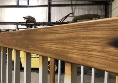 faux wood grain painted