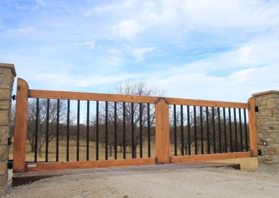 faux wood painted ranch gates