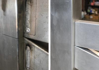 process of hiding welds