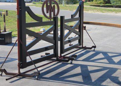 faux wood painted aluminum gates