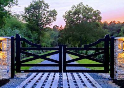 custom farmhouse aluminum black gates