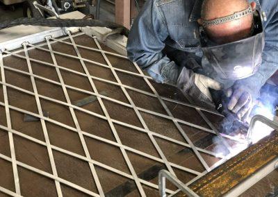welding aluminum barn doors