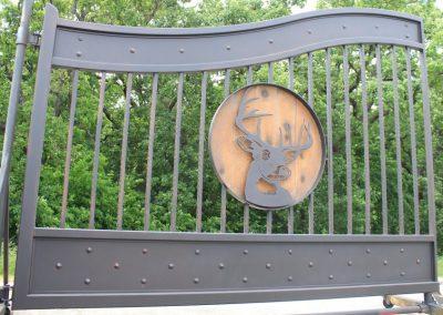 deer aluminum gate