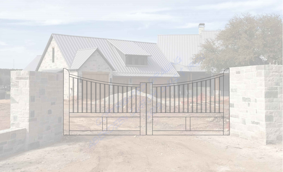contemporary style gate