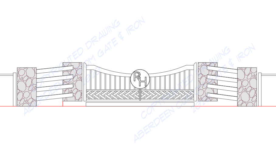 braided gate design
