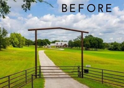 before picture of ranch gate