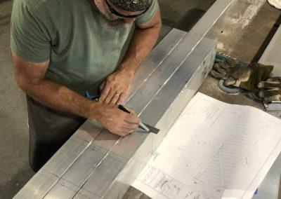aluminum gate shop drawing