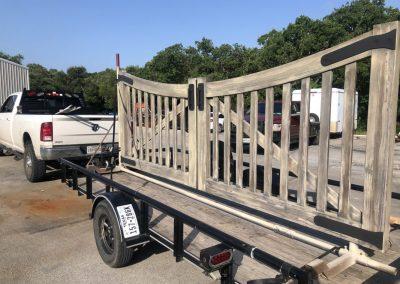 delivering aluminum gate