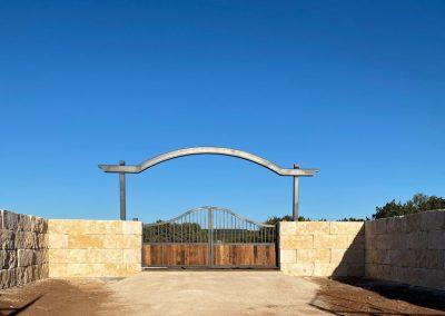 gate entrance rock