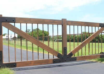 faux painted ranch gate