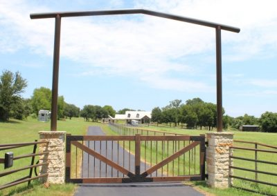 Faux-painted Cedar Ranch Gate