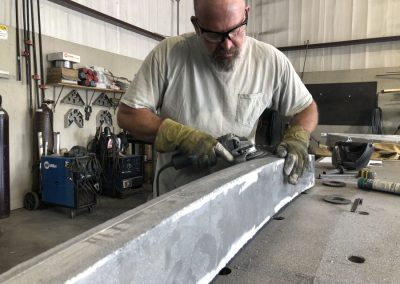 grinding out box frame
