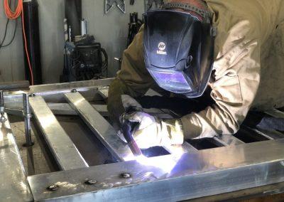 welding aluminum gate