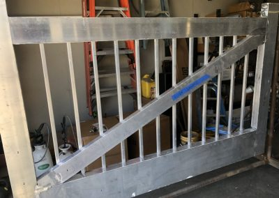 aluminum gate in shop