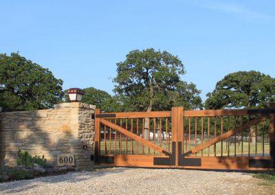 aluminum horse ranch gate