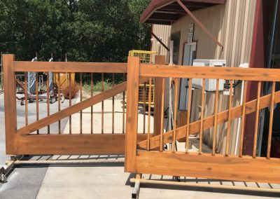 darker wood stain gate