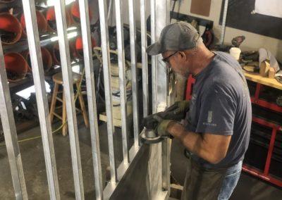 finishing aluminum gate fabrication