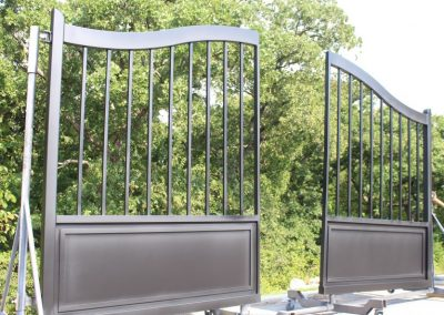 modern black custom gates