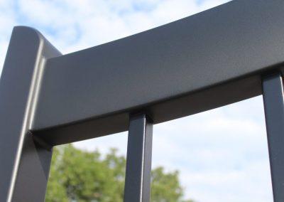 modern black aluminum gate