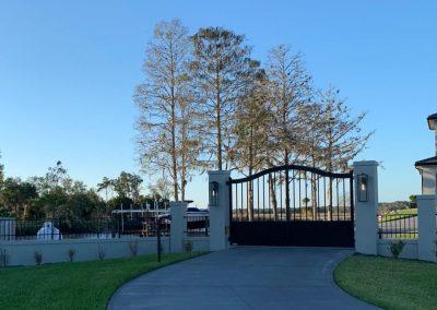 modern satin black aluminum gate