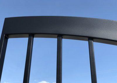 satin black gate detail