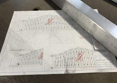 gate design drawing