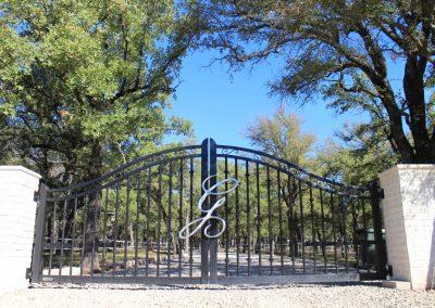 aluminum custom driveway gate