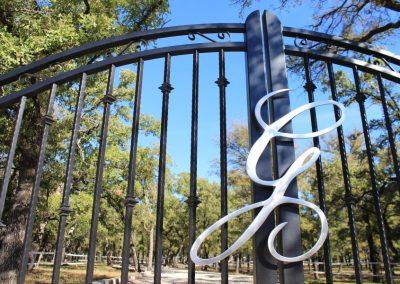 monogramed aluminum custom gate