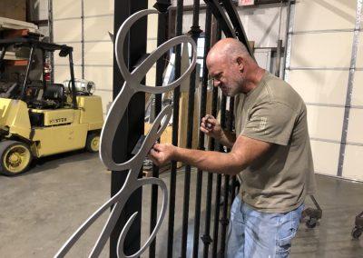 mounting aluminum gate monogram