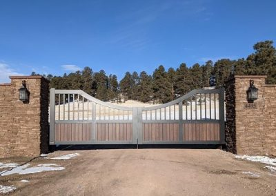 colorado custom aluminum ranch gate