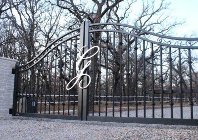 monogramed custom ranch gate