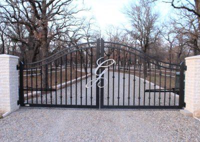 monogrammed ranch gate