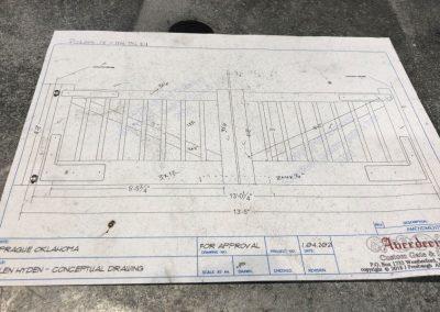 aluminum ranch gate shop drawing