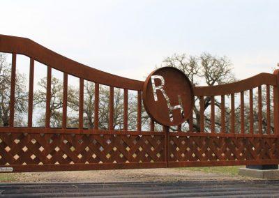 Modern Ranch Braided Steel Gate